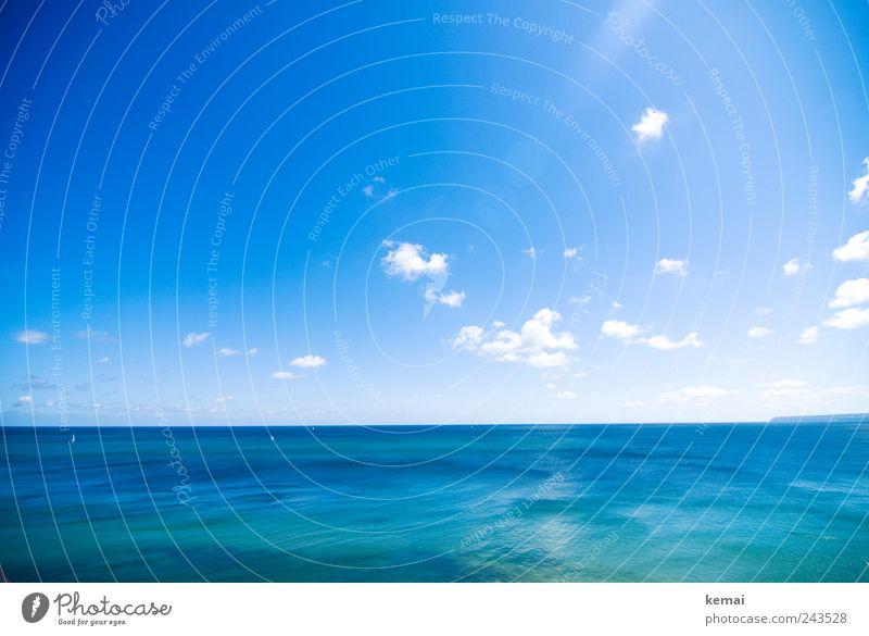 Das Meer Ferien & Urlaub & Reisen Tourismus Sommerurlaub Umwelt Natur Landschaft Wasser Himmel Wolken Sonnenlicht Klima Schönes Wetter Ostsee groß schön blau