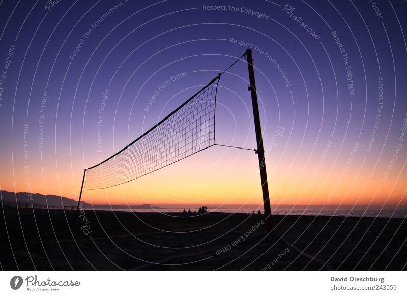 I######I Freizeit & Hobby Ferien & Urlaub & Reisen Ferne Sommerurlaub Strand Meer Sport Ballsport Volleyball Sportstätten Landschaft Schönes Wetter Küste blau