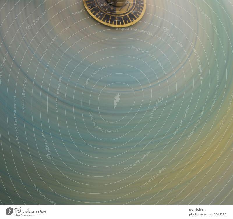 Drehwurm Kugel Globus Bewegung drehen Schwindelgefühl Farbverlauf blau gelb rund Kreis erdrotation Drehung erdumdrehung Globalisierung Weiterentwicklung