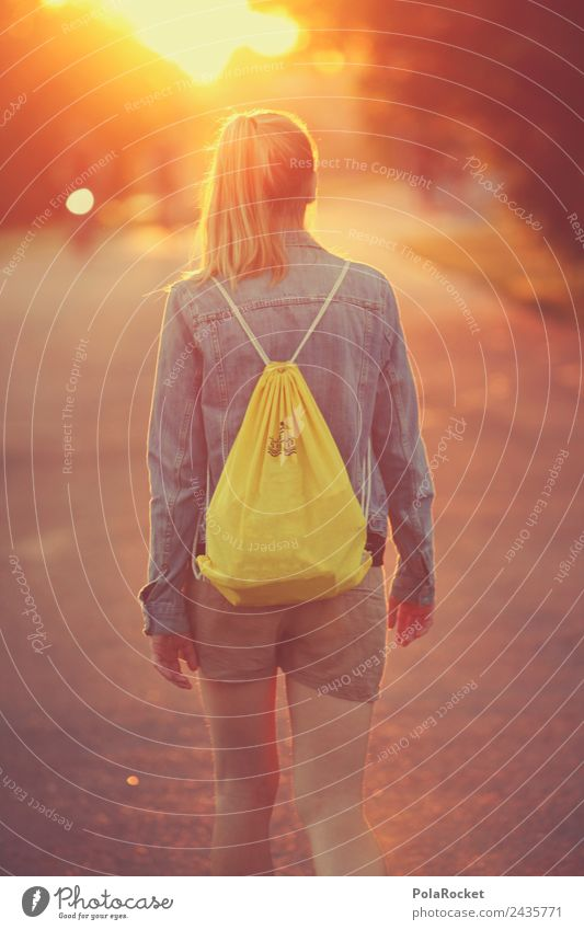 #A# Sunny Girl Frau Jugendliche Sommer Sonne Kunst Mode ästhetisch laufen Zukunft Jugendkultur Spaziergang Futurismus Model Karriere positiv Modellfigur