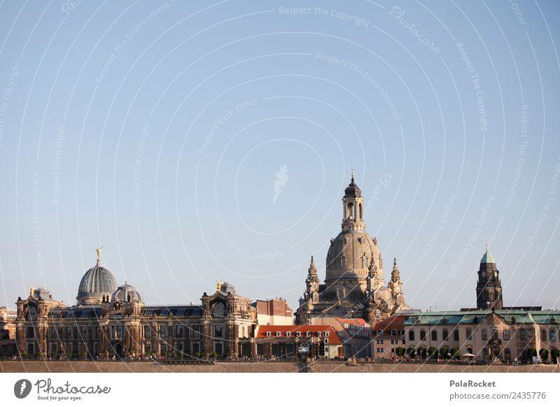 #A# Dresdner Skyline Kunst Kunstwerk ästhetisch Dresden Sachsen Elbufer Frauenkirche Sehenswürdigkeit Brühlsche Terrasse Farbfoto Gedeckte Farben Außenaufnahme