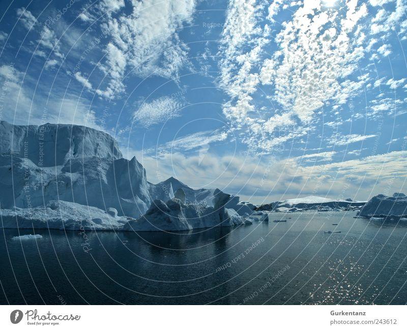 Cool Water Natur Wasser schön Meer blau ruhig Wolken träumen Landschaft Eis Umwelt Reisefotografie Klima Bucht Urelemente Klimawandel