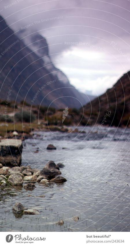 ganz ganz weit weg° Natur Wasser schön Pflanze Wolken Herbst Berge u. Gebirge See Landschaft Stimmung Umwelt Hoffnung Urelemente Bach demütig Gewitterwolken