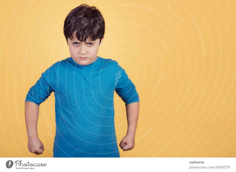 wütender Junge Lifestyle Mensch maskulin Kind Kleinkind Kindheit 1 8-13 Jahre sprechen kämpfen Konflikt & Streit Aggression bedrohlich rebellisch Wut Neid
