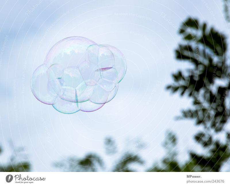 ufo Himmel Baum Wolken fliegen rund Seifenblase Luftblase UFO Verbundenheit
