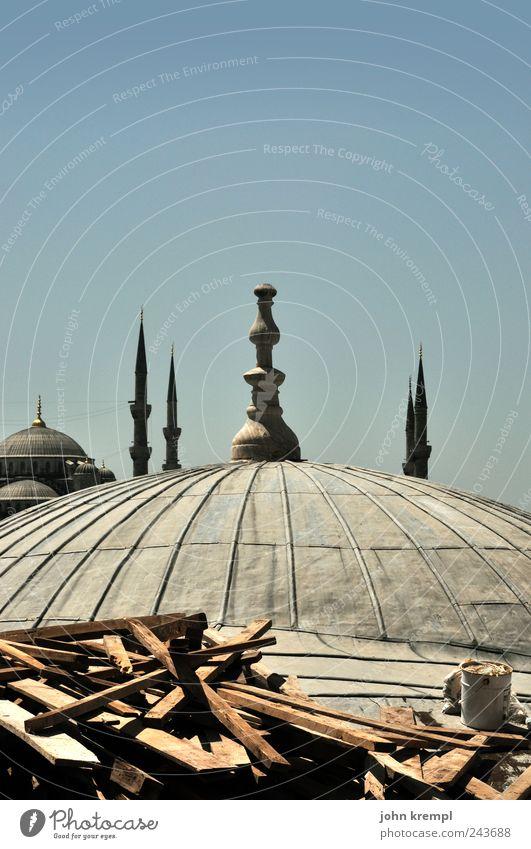 es gibt immer was zu tun Istanbul Türkei Hauptstadt Stadtzentrum Kirche Bauwerk Gebäude Architektur Moschee Sehenswürdigkeit Hagia Sophia Blaue Moschee bauen
