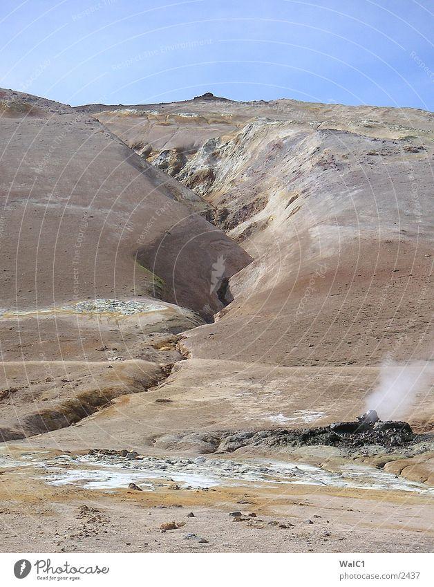 Mykvatn Area 01 Island Umweltschutz Nationalpark unberührt Europa Solfataren Erde Rauch Gas Buthan Wasser Natur Kraft Energiewirtschaft
