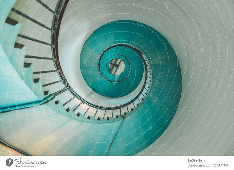Schnecke oder Treppe alt blau Farbe schön weiß Ferne Architektur Innenarchitektur kalt Senior Holz Kunst Tourismus Design Wachstum ästhetisch