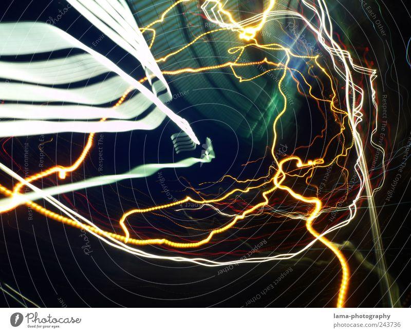 TIME WARP Linie Zeit Elektrizität Blitze Tunnel trashig Rausch Lichtspiel Illusion Nachtleben Lichtstrahl abstrakt Tunnelblick Zeitreise Wellenlinie