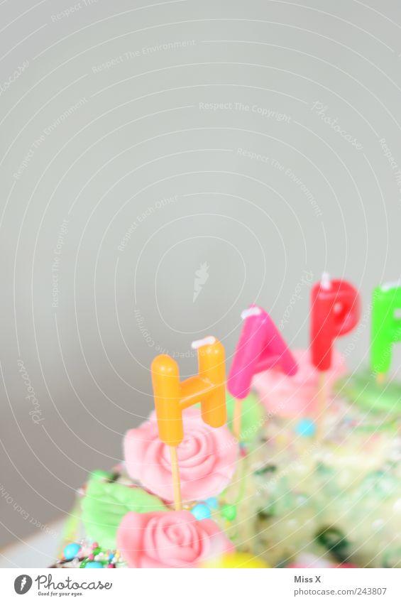 Hap.. Ernährung Lebensmittel Geburtstag süß Kerze Dekoration & Verzierung Kuchen lecker Süßwaren Appetit & Hunger Schokolade Festessen Backwaren Teigwaren Büffet Brunch