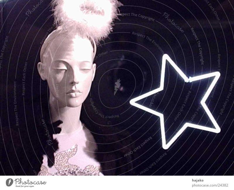 Abendstern Neonlicht Fototechnik Stern (Symbol) Muster Puppe Feder Kontrast