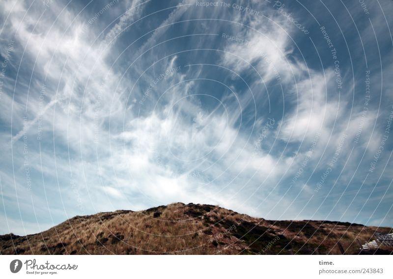 Fire In The Sky Ferne Freiheit Himmel Wolken Horizont Gras Zufriedenheit Einsamkeit einzigartig Düne Stranddüne Dünengras