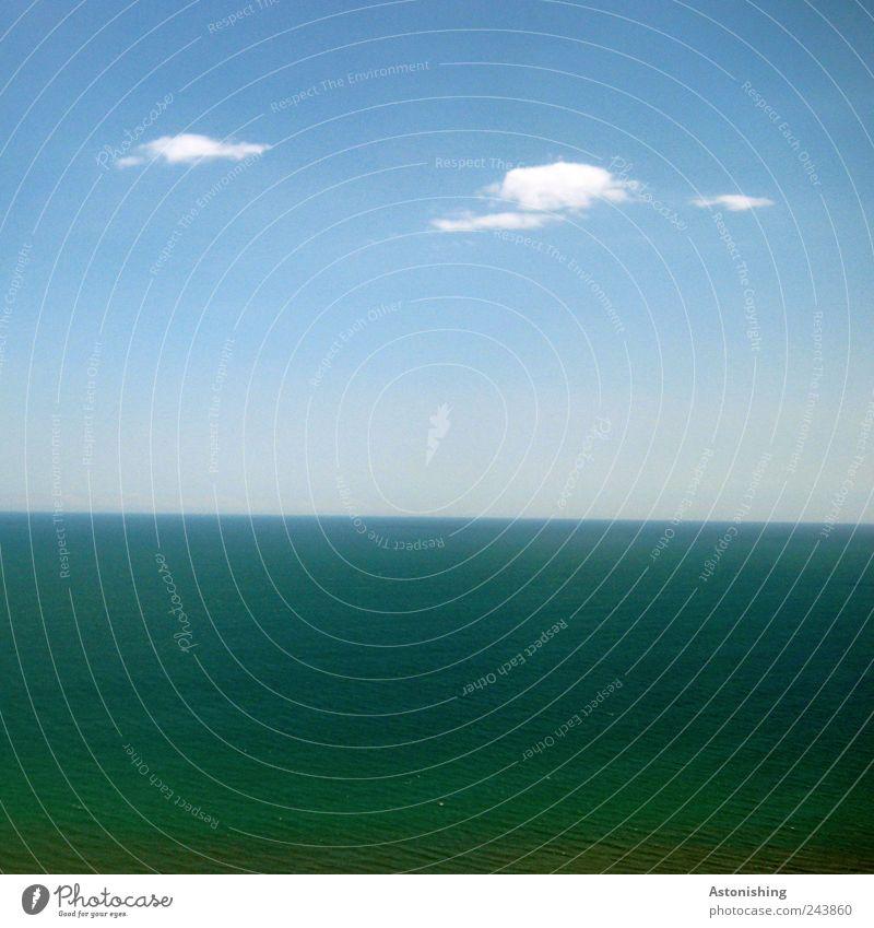 Horizont Natur Wasser Himmel weiß Meer blau Sommer Wolken kalt Erde Küste Wetter Umwelt nass Luftverkehr