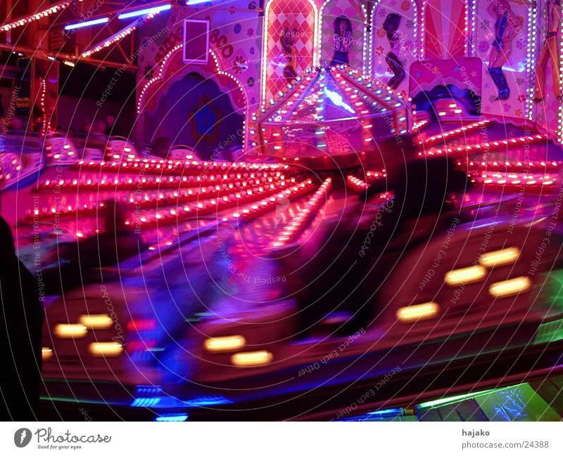 All-Round Karussell Unschärfe Jahrmarkt Freizeit & Hobby schnelle Fahrt Bewegung Licht Abend