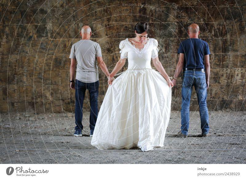 UT Dresden und was so geschah Frau Mensch Mann Erwachsene Leben Liebe Gefühle Paar Zusammensein Stimmung Seil Hochzeit Zusammenhalt Vertrauen Partner