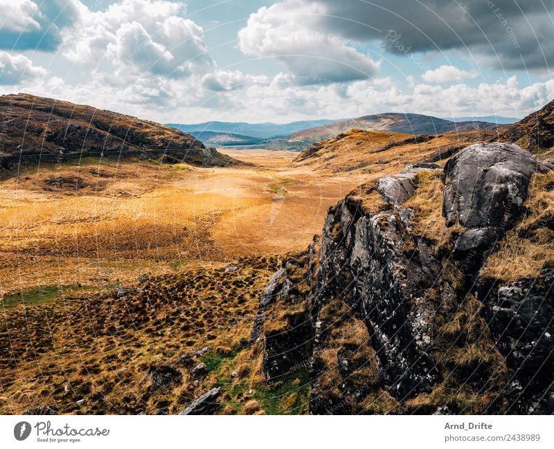 Molls Gap - Irland Ferien & Urlaub & Reisen Tourismus Ausflug Abenteuer Ferne Freiheit Sightseeing Natur Landschaft Himmel Wolken Frühling Sommer Gras Sträucher