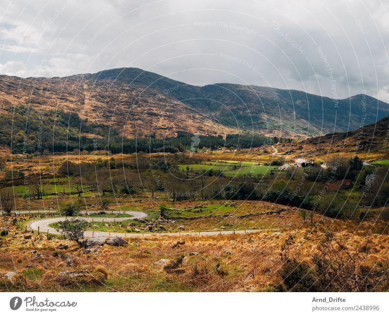 Irland - Black Valley Natur Landschaft Himmel Wolken Frühling Sommer Schönes Wetter Pflanze Baum Wiese Feld Wald Hügel Felsen Berge u. Gebirge Schlucht