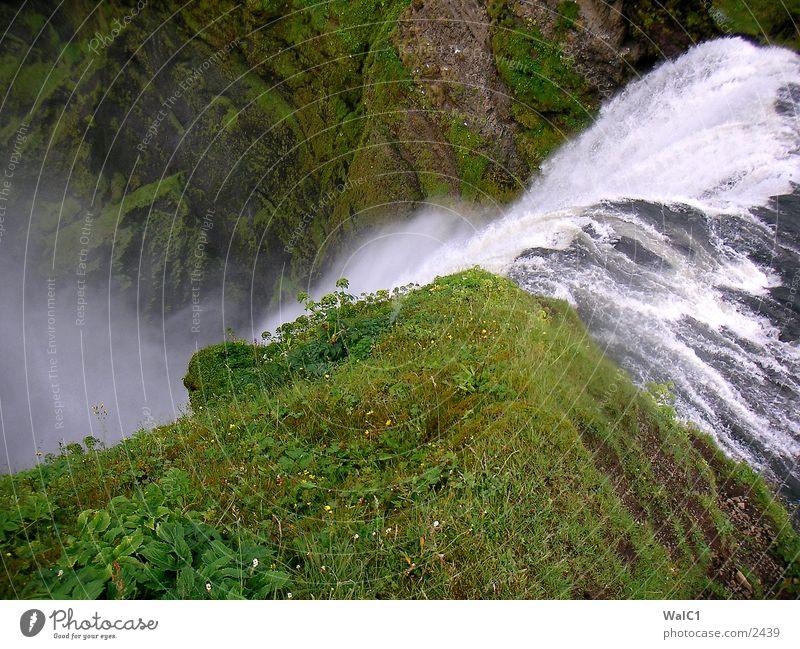 Skaftafell Nationalpark Natur Wasser grün Wiese Kraft Europa Energiewirtschaft Island Wasserfall Umweltschutz unberührt