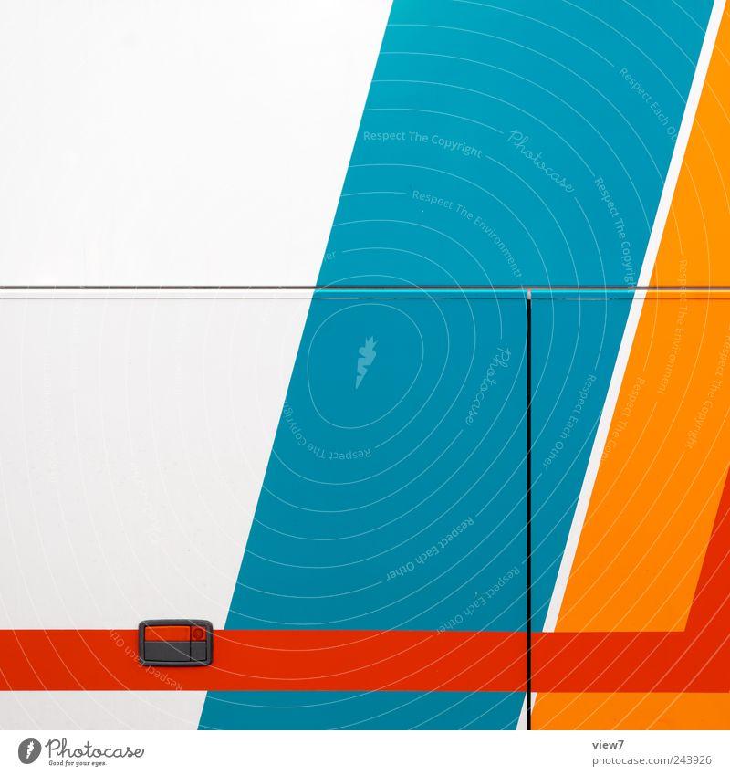 bus Fahrzeug Bus Linie Streifen authentisch einfach frisch einzigartig modern neu Originalität positiv mehrfarbig Fröhlichkeit Beginn ästhetisch Design elegant