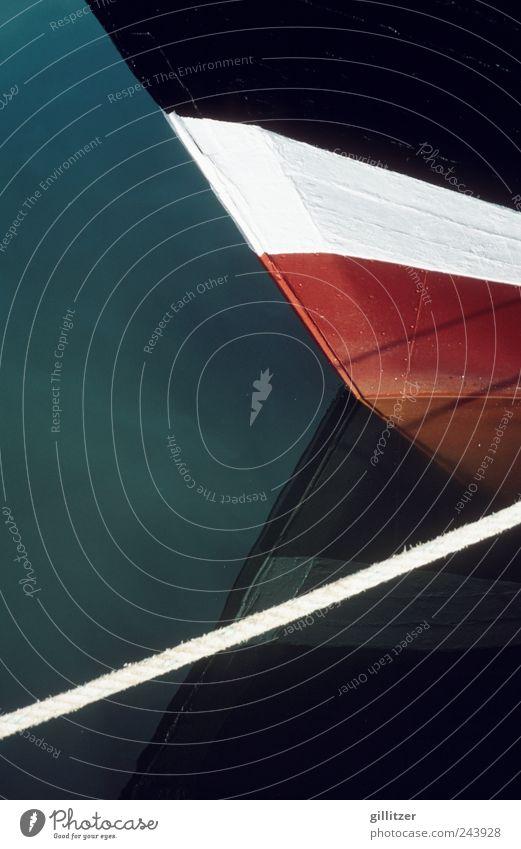 Boot auf Usedom alt Wasser weiß Ferien & Urlaub & Reisen rot Meer Sommer schwarz dunkel Stimmung Zufriedenheit natürlich Ausflug Tourismus ästhetisch Spitze