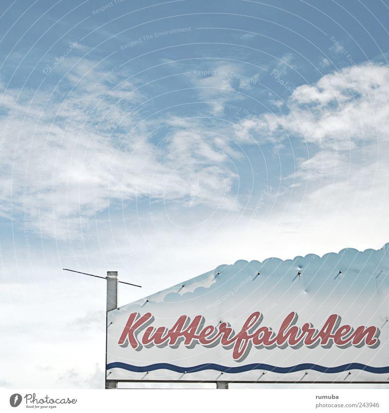 List | Hafen Kutterfahrten Angeln Tourismus Ausflug Meer Wasser Himmel Wolken Schifffahrt Bootsfahrt Zeichen Schriftzeichen Schilder & Markierungen