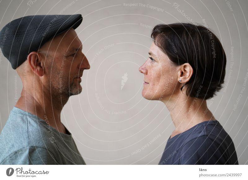 Freundschaft ist Mensch maskulin Frau Erwachsene Mann Paar 2 beobachten lernen Neugier Vorfreude Coolness Optimismus Kraft Willensstärke Akzeptanz Vertrauen