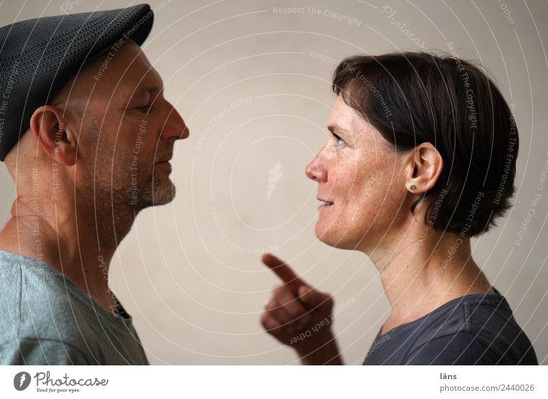 Freundschaft ist Mensch maskulin feminin Frau Erwachsene Mann Paar Partner Leben 2 beobachten Blick Fröhlichkeit Zusammensein Neugier Freude Zufriedenheit