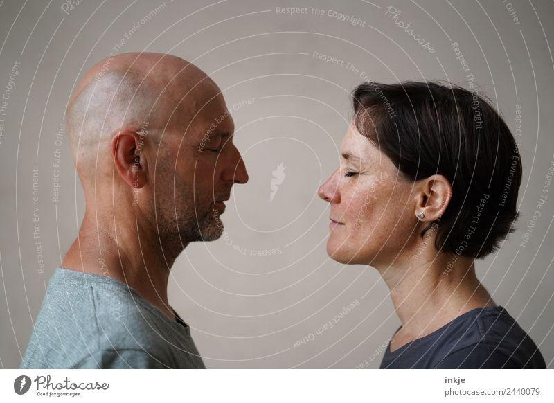 Freundschaft ist Frau Mensch Mann Erholung ruhig Gesicht Erwachsene Lifestyle Leben natürlich Gefühle Paar Zusammensein Stimmung Zufriedenheit