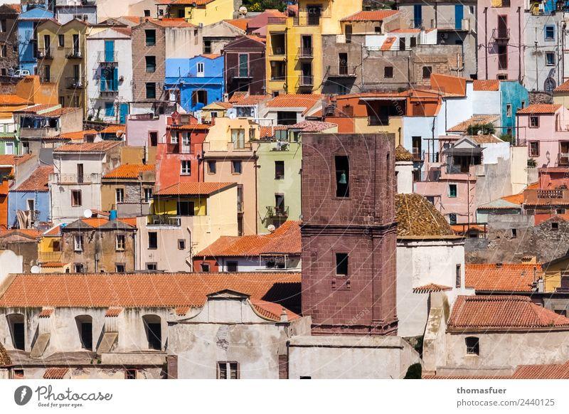 Bosa - Sardinien Ferien & Urlaub & Reisen Sommer Stadt Farbe schön Haus Ferne Tourismus Design Kirche Europa frisch Fröhlichkeit Lebensfreude einzigartig