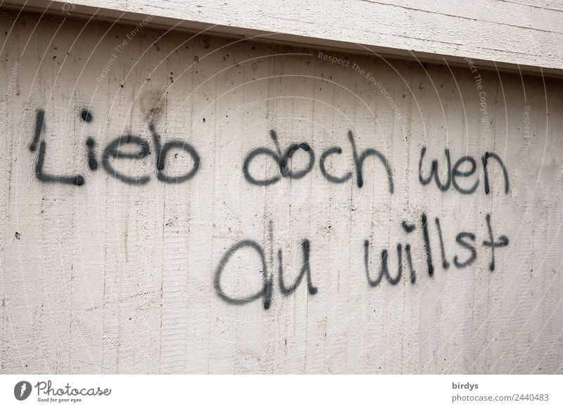 Amors Pfeile treffen immer schwarz Graffiti Wand Liebe Gefühle Glück Mauer grau Schriftzeichen Kommunizieren Sex authentisch einzigartig Beton Sehnsucht