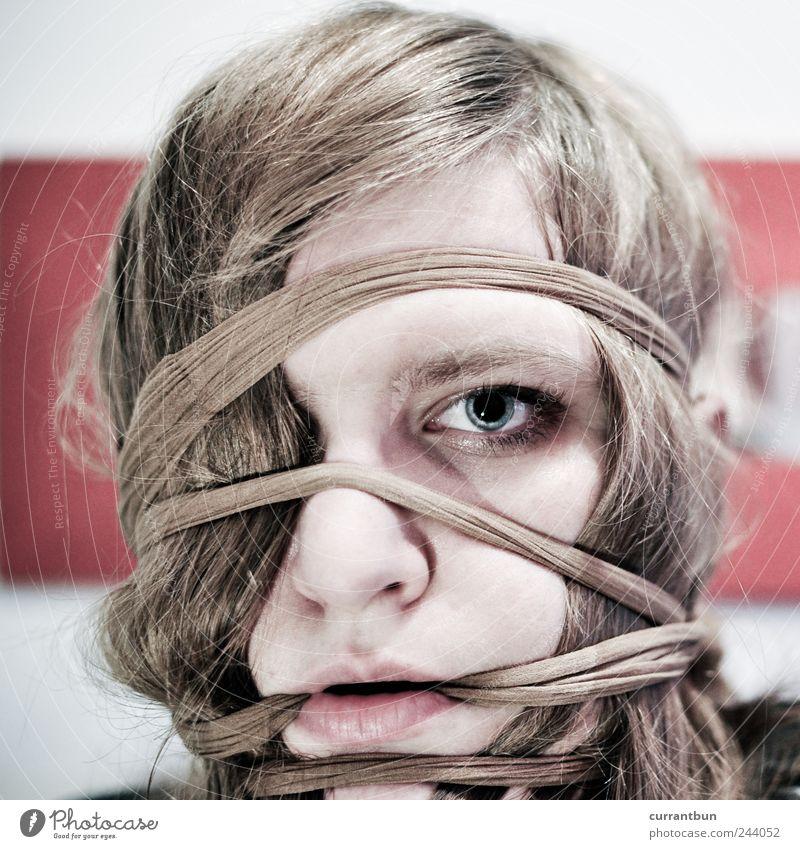 heads will roll.... Spiegel ästhetisch Gefühle geheimnisvoll Haare & Frisuren Strumpfhose Strümpfe Auge Frau meine haare sind strumpfhosenfarben! rot weiß blau