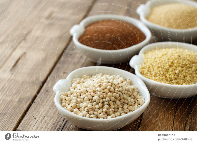 Glutenfreie Körner Gemüse Vegetarische Ernährung Diät Tisch braun Amaranth Amaranthus Textfreiraum getrocknet Sehne Lebensmittel glutenfrei Gesundheit Zutaten