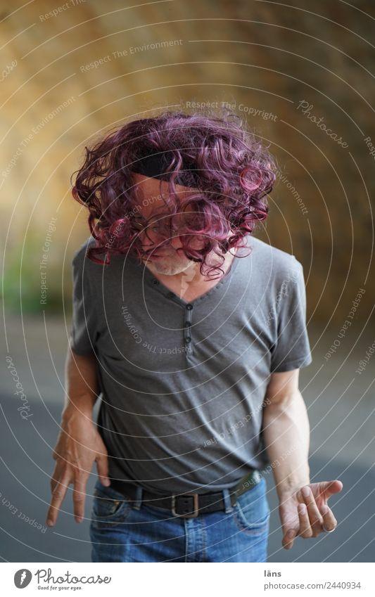 rock it Mensch maskulin Mann Erwachsene Leben 1 45-60 Jahre Musik Musiker Gitarre Haare & Frisuren langhaarig Locken Fröhlichkeit Gefühle Stimmung Freude