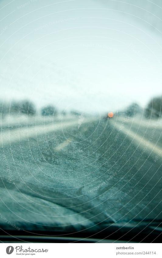 Autobahn Umwelt Natur Landschaft Himmel Klima Klimawandel Wetter Verkehr Verkehrsmittel Personenverkehr Autofahren Straße PKW Glas Ferien & Urlaub & Reisen