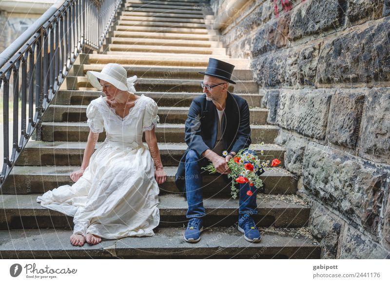 Lass mich in Ruhe | UT Dresden Frau Mensch Mann Erwachsene Leben Liebe Traurigkeit feminin Paar maskulin sitzen Romantik Hochzeit Partnerschaft Krise