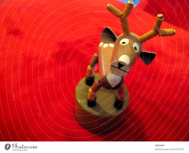Hirsch Hirsche rot Spielzeug Trauer Tier braun Traurigkeit