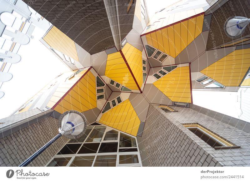 Kubushaus vom Piet Blom Ferien & Urlaub & Reisen Stadt Haus Architektur Leben gelb Gebäude Tourismus außergewöhnlich Ausflug Häusliches Leben ästhetisch