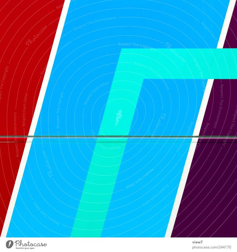 simple blau rot Farbe kalt Linie Metall Design elegant groß Schilder & Markierungen frei Beginn frisch modern ästhetisch neu