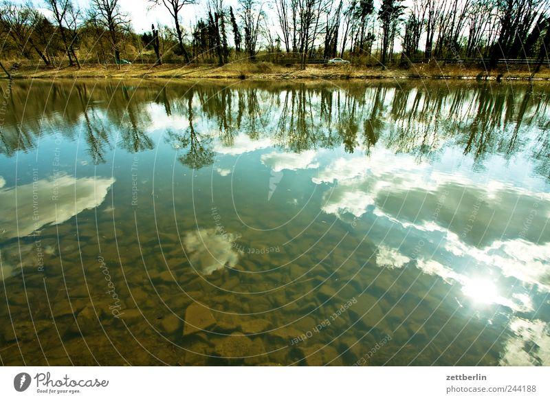 Hohenzollernkanal Himmel Natur Wasser Baum Sonne Wolken Herbst Umwelt Landschaft Gefühle Küste See Wetter Wellen Klima Seeufer