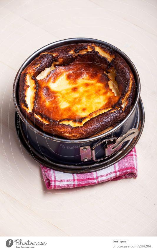 say cheese, cake gelb Lebensmittel braun frisch gut Kochen & Garen & Backen Kuchen Bioprodukte Backwaren Käse Mahlzeit Billig selbstgemacht Verschluss