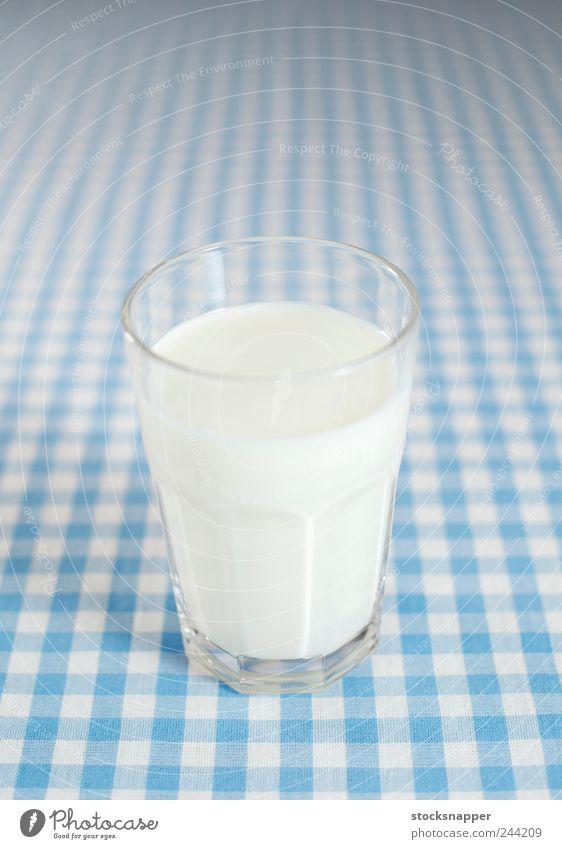 kalt Glas Getränk Coolness Milch kariert Tischwäsche Objektfotografie