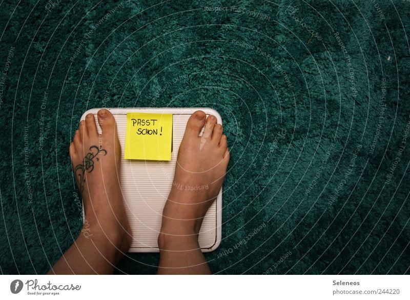 Ich hätt gern noch ein Eis. Ja, mit Sahne! Mensch Ernährung Beine Fuß Schilder & Markierungen Schriftzeichen stehen Häusliches Leben Bad Hinweisschild weich Zettel kuschlig Diät Teppich Ornament