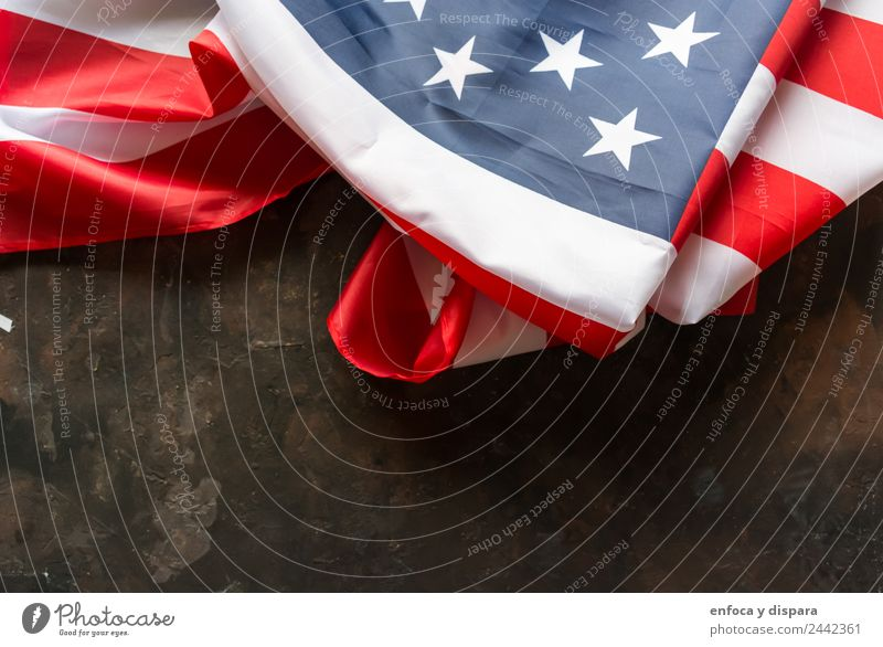 amerikanische Flagge Freiheit Wind Zeichen Streifen Fahne Stadt blau rot weiß protestieren Selbstständigkeit Amerikaner Hintergrund Land Demokratie Juli Nation