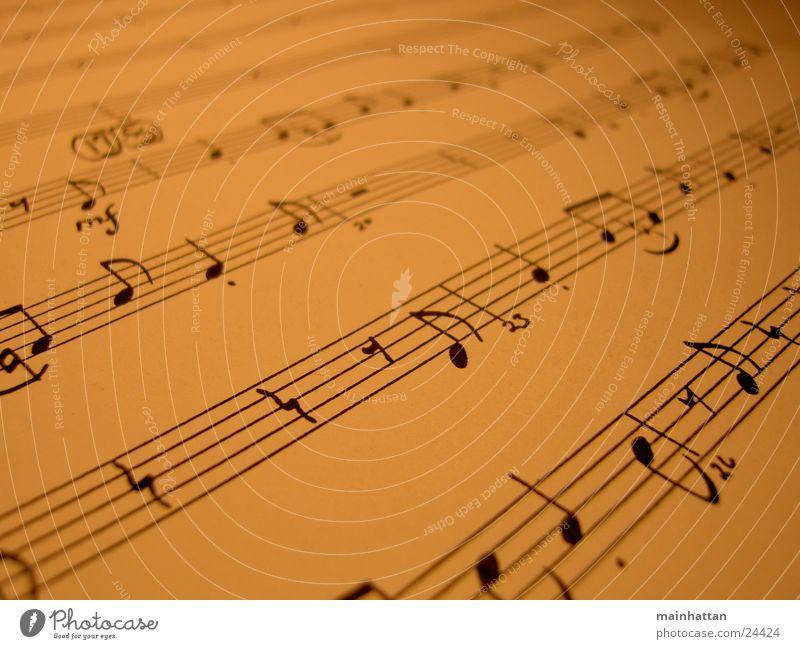 Noten Blatt Musik Papier Dinge Musiknoten Lied Swing