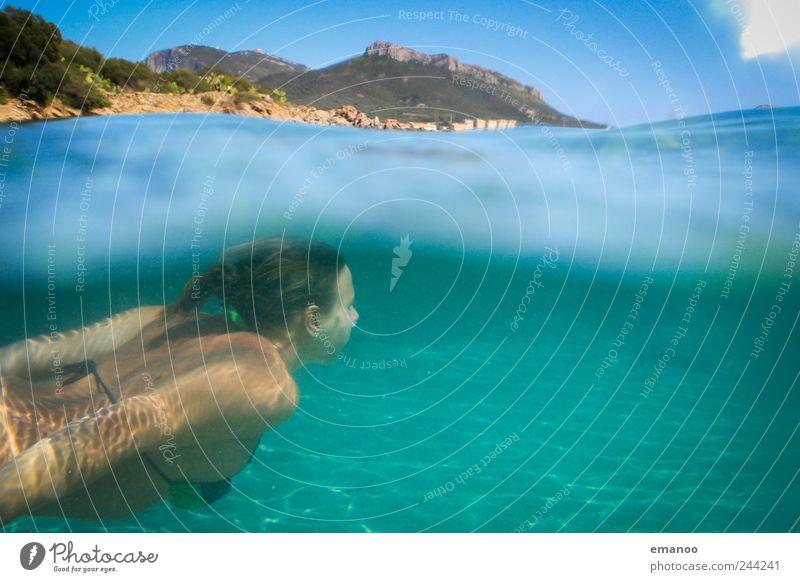 400 / wir sehen uns im Meer Mensch Natur Jugendliche Wasser schön Ferien & Urlaub & Reisen Meer Sommer Freude feminin Freiheit Stil Wellen Freizeit & Hobby Schwimmen & Baden Insel