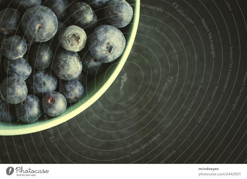 Eine viertel Schüssel Blaubeeren Frucht Ernährung Vegetarische Ernährung Diät Slowfood Schalen & Schüsseln kaufen Küche Essen genießen frisch Gesundheit lecker