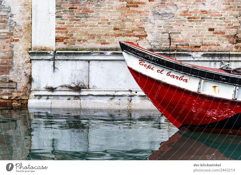 Bepi el Barba .... irgendwas mit Bart! Ferien & Urlaub & Reisen Tourismus Wasser Venedig Italien Europa Stadt Mauer Wand Fassade Motorboot Ruderboot