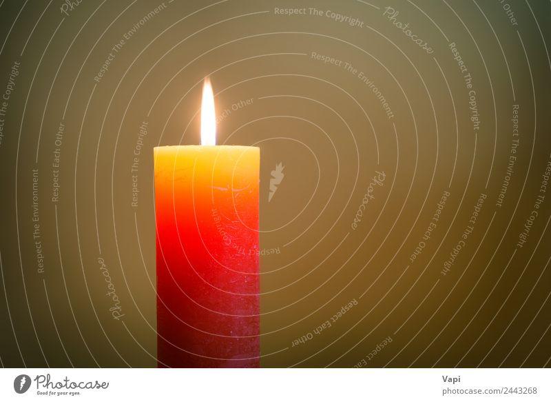 Kerzenlicht mit Flamme Erholung Meditation Dekoration & Verzierung Lampe Feste & Feiern Trauerfeier Beerdigung Kirche glänzend leuchten dunkel hell braun gelb