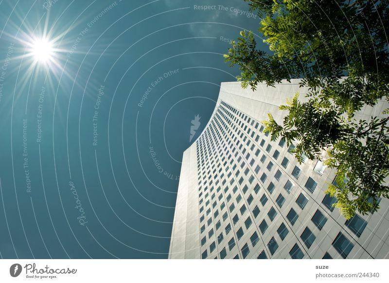 Uni-Riese Himmel blau Baum Sonne Wolken Haus Umwelt Fenster Architektur Gebäude Business Arbeit & Erwerbstätigkeit Wetter Fassade hoch modern