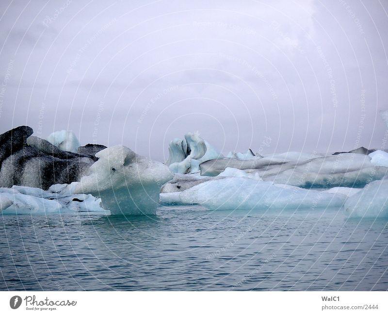 Gletschersee 02 Natur Wasser Eis Wasserfahrzeug Kraft Europa Energiewirtschaft Island Umweltschutz Eisberg Nationalpark unberührt Gebirgssee
